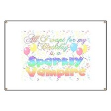 Twilight Birthday Sparkly Vam Banner