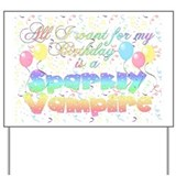 Twilight Birthday Sparkly Vam Yard Sign
