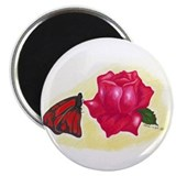 Funny Beautiful butterfly 2.25&quot; Magnet (10 pack)