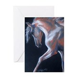 Palomino Trotting Horse Greeting Card