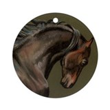 Morgan Stallion Ornament (Round)