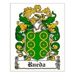 Rueda Coat of Arms Small Poster