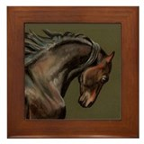 Morgan Stallion Framed Tile