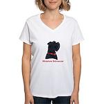 Miniature Schnauzer Women's V-Neck T-Shirt