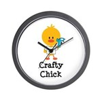 Crafty Chick Wall Clock