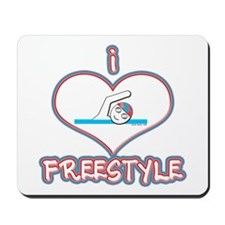 I Love Freestyle! Mousepad