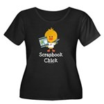 Scrapbook Chick Women's Plus Size Scoop Neck Dark
