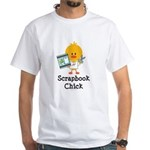 Scrapbook Chick White T-Shirt