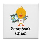 Scrapbook Chick Tile Coaster