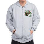 In My Rose Garden Zip Hoodie