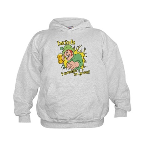 Irish I Were In You! Kids Hoodie