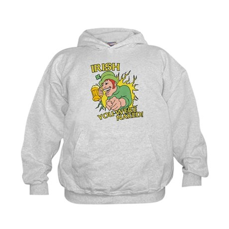 Irish You Were Naked Kids Hoodie