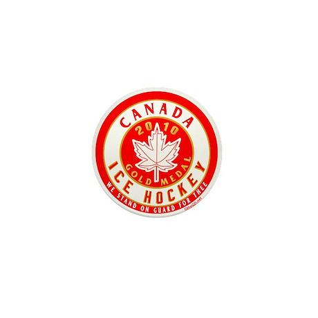 CA Canada Hockey Gold Medal Mini Button