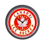CA Canada Hockey Gold Medal Wall Clock