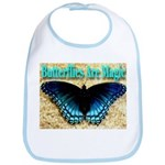Butterflies Are Magic Bib