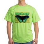 Butterflies Are Magic Green T-Shirt