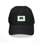 Four Leaf Clover Black Cap