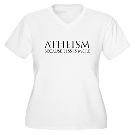 Atheism because less is more Women's Plus Size V-N