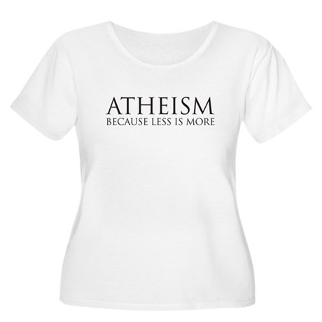 Atheism because less is more Women's Plus Size Sco
