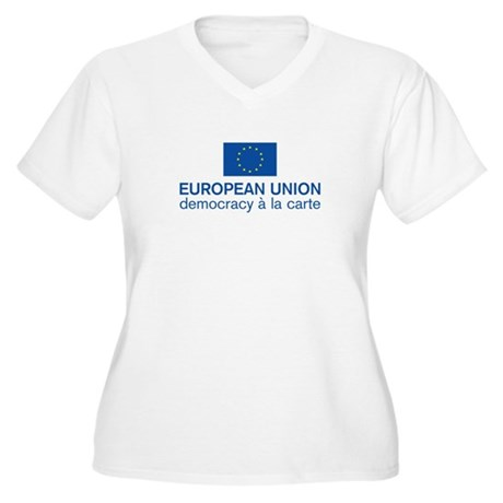 European Union Democracy a l Women's Plus Size V-N