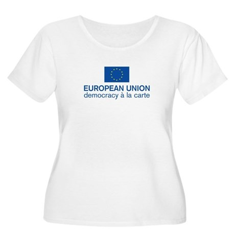 European Union Democracy a l Women's Plus Size Sco