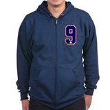 United States Ice Hockey 9 Zip Hoodie