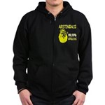 Abstinence: 99.99% Effective Zip Hoodie (dark)