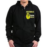 Abstinence: 99.99% Effective Zip Hoodie (dark)