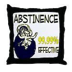 Abstinence: 99.99% Effective Throw Pillow
