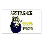 Abstinence: 99.99% Effective Sticker (Rectangle)