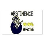 Abstinence: 99.99% Effective Sticker (Rectangle 50