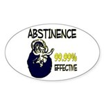Abstinence: 99.99% Effective Sticker (Oval 10 pk)