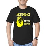 Abstinence: 99.99% Effective Men's Fitted T-Shirt