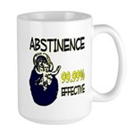 Abstinence: 99.99% Effective Large Mug