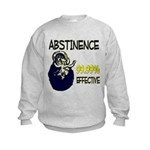 Abstinence: 99.99% Effective Kids Sweatshirt