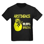 Abstinence: 99.99% Effective Kids Dark T-Shirt