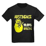 Abstinence: 99.99% Effective Kids Dark T-Shirt