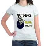 Abstinence: 99.99% Effective Jr. Ringer T-Shirt
