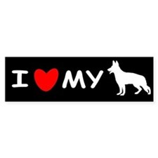 Love My White Shepherd Bumper Sticker