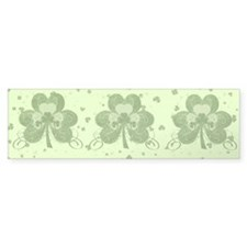 Swirly Shamrock Bumper Sticker