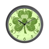 Swirly Shamrock Wall Clock