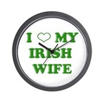 I Love My Irish Wife Wall Clock
