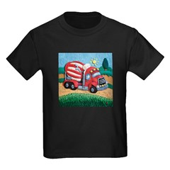 Cement Mixer Kids Dark T-Shirt