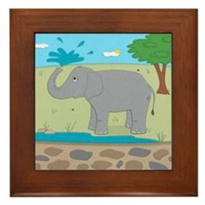 Elephant Framed Tile