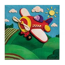 Prop Plane Tile Coaster