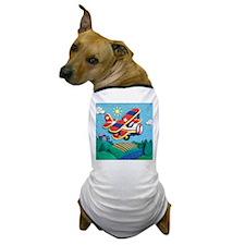 Biplane Aircraft Dog T-Shirt