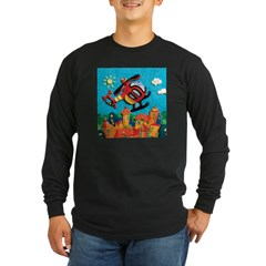 Helicopter Long Sleeve Dark T-Shirt