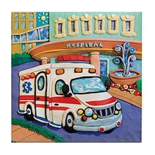Ambulance Tile Coaster