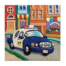 Police Car Tile Coaster