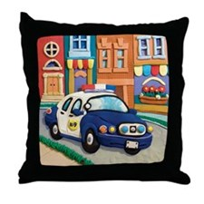 Police Car Throw Pillow